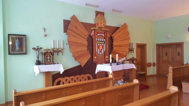 Zdjęcie kaplicy znajdującej się w Samodzielnym Publicznym Zakładzie Leczniczo - Opiekuńczym